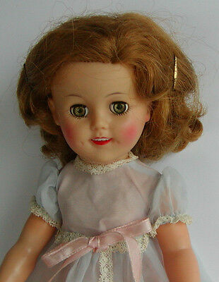 """Adorable Vintage 1950s Ideal 15"""" ST-15 Vinyl Dressed Shirley Temple Doll"""