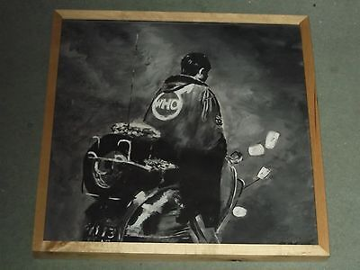 The Who, Quadrophenia  18.5 X 18.5 Ins,.hand Painted  Framed .ready To Hang .mod