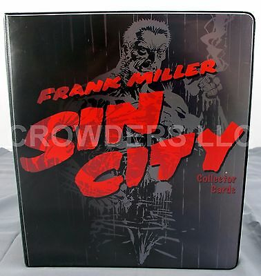 Frank Miller Sin City Collector Card 3 Ring Binder Album w/ Uncut Card Sheet '99