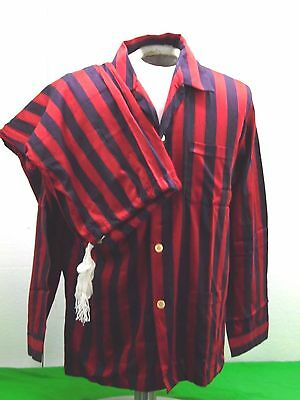John Randall Pajamas Red & Blue Striped Size 40 Made In England 100% Cotton