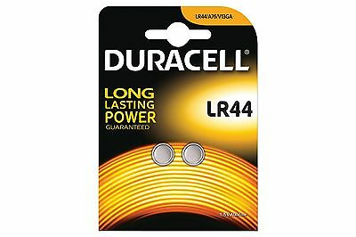2 X Duracell LR44, 1.5V Alkaline Button Cell Batteries, Long Lasting Power