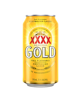 XXXX Gold Cans 30 Block 375mL case of 30 Mid Strength Beer Lager