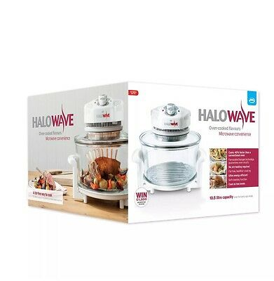 JML Halowave Halogen Oven 1400W, 10.5 Litres. Black. PRICED REDUCED