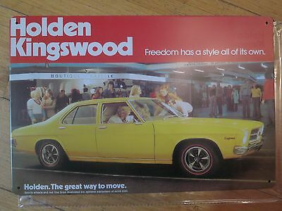 holden   kingswood tin metal sign MAN CAVE vintage style car sign brand new