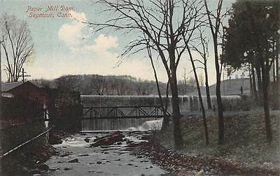 SEYMOUR, CT ~ PAPER MILL FACTORY DAM ~ AUGUST SCHMELZER CO PUB. ~ c. 1910s