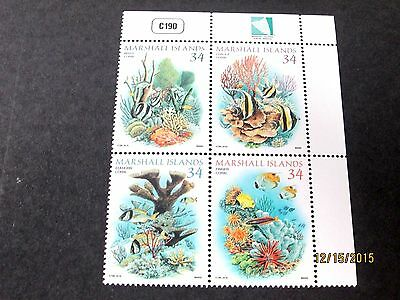 Marshall Islands 2002 Tropical Fish Block/4 Complete Very Fine Mint Never Hinged