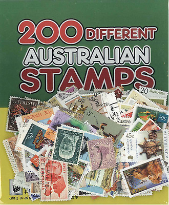 Packet of 200 Different Australian Stamps
