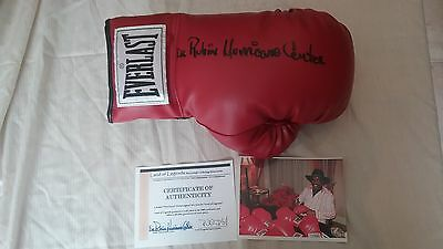 Hurricane Carter signed glove