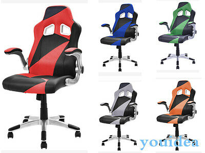 Heavy Duty High-back Computer Desk Vintage Gaming Reclining Task Office Chair