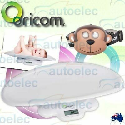 New Oricom Ds1000 Digital Lcd Electronic Baby Scales Babies 50 Kg Weight +Monkey