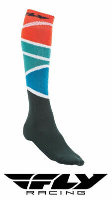 Fly Racing Mx Thick Motocross Socks Tall Sock Red/blue/black Adult Size