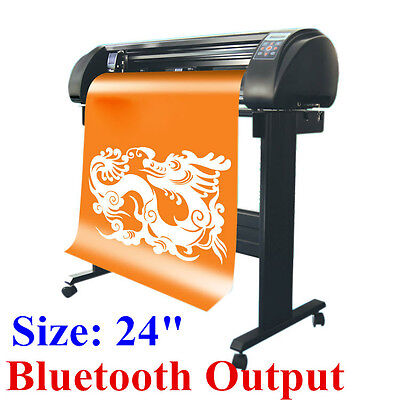 "24"" SIGNKEY Vinyl Cutter, Sign Plotter Cutter Common Cut, Bluetooth Output"