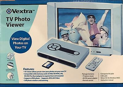 Vextra TV Photo Viewer - RCA View Digital Photos on Your TV w/ Remote Control
