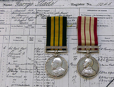 Africa General Service Medal Somaliland & Naval GSM Persian Gulf - Marine