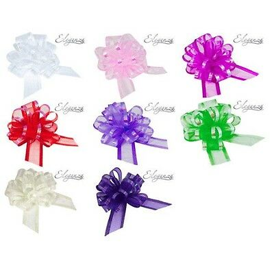 Organza Pull Bows 50mm for Wedding Car Pew Gift Wrap Party