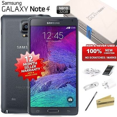New Sealed Unlocked SAMSUNG Note 4 N910 White 4G LTE 32GB Android Mobile Phone