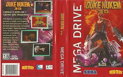 Duke Nukem 3D Sega Mega Drive PAL EU Replacement Box Art Case Insert Cover Scan