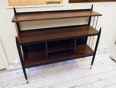 Vintage G-Plan 'librenza' Wall Unit/bookcase, Tola & Black, Delivery Available