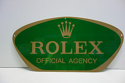 """Rolex Official Agency Dealership Sign. 9"""" X 18"""""""