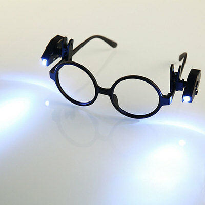Mini Clip-on Grip Clamp LED Light Rotate For Reading Glasses White Bright