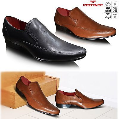 New Mens Leather Smart Formal Wedding Italian Office Dress Slip On Shoes Size UK