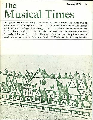 THE MUSICAL TIMES - JANUARY 1978 - VOL. cxix No. 1619