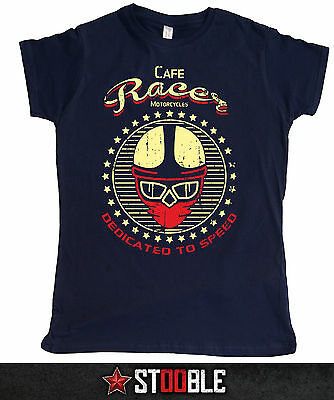 Cafe Racer Dedicated to Speed Ladies T-Shirt - Direct from Stockist