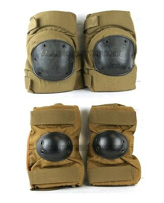 NEW US Military ALTA OR BIJAN'S KNEE ELBOW PADS SET Paintball Coyote LARGE