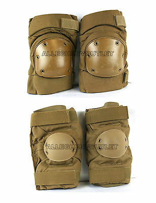 NEW US Military ALTA OR BIJAN'S KNEE ELBOW PADS SET Paintball Coyote MEDIUM