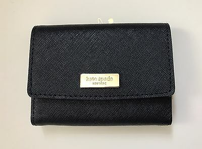 Kate Spade Large Holly NEWBURY Lane Business Credit Card Case Holder NWT Black