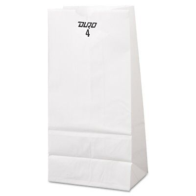 #4 White Kraft Paper Merchandise / Grocery / Lunch Bags 500 ct | Free Shipping