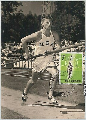 63766 -  SAN MARINO - POSTAL HISTORY: MAXIMUM CARD 1963 - SPORT: Pole vault