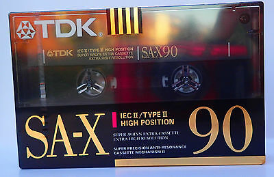 TDK SA-X 90 TYPE 2 (1x) NEW SEALED CASSETTE TAPE MADE IN JAPAN