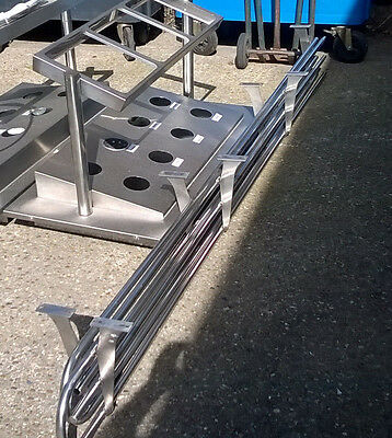 Stainless Steel Serving Tray Rails, Cafe, Restaurant, Take Away