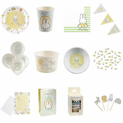 193 Item Set Baby Miffy Neutral Unisex Baby Shower Tableware & Decorations