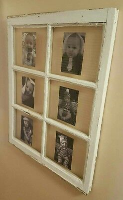 VINTAGE SASH ANTIQUE WOOD WINDOW PICTURE FRAME PINTEREST 32x24 6 PANE FAMILY