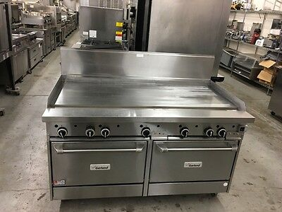 "Garland G60-G60CC - 60"" Griddle Top Range w/Double Convection Oven Base - Refurb"