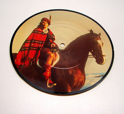 "Vintage Rod Stewart in Kilt on Horse Sweet Surrender 7"" Pic Picture Disc Record"