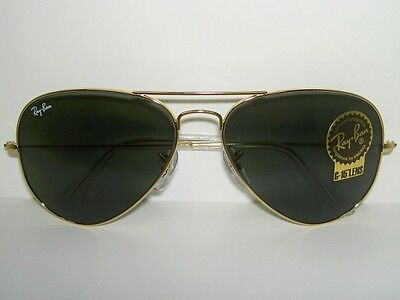 New RAY BAN  Sunglasses  AVIATOR Large Metal II  Gold Frame  RB 3026 L2846  62mm