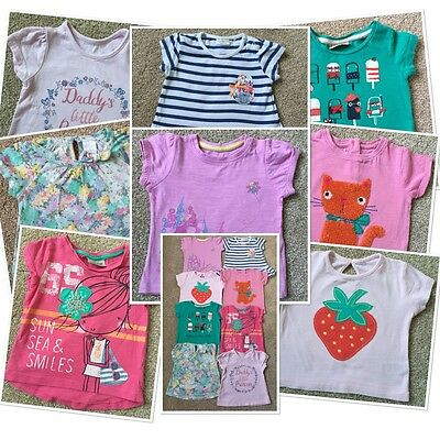 multi listing baby girls spring summer tops 6-9 months next zara mothercare