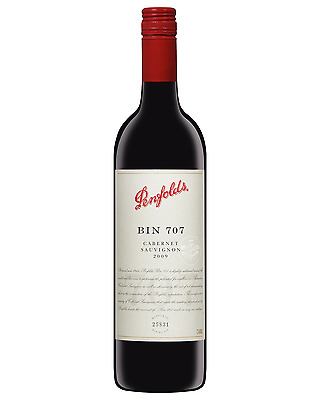 Penfolds Bin 707 Cabernet Sauvignon 2009 case of 6 Dry Red Wine 750mL