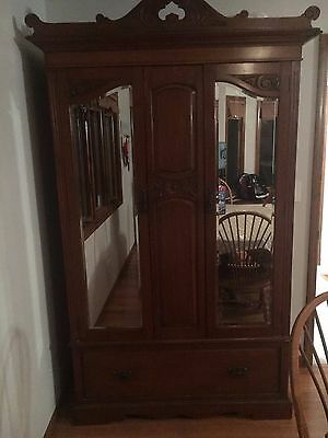Antique Armoire W/ Copper Hardware!!