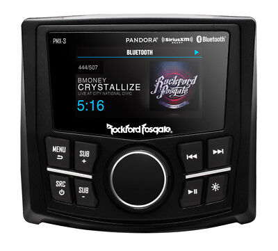 "Rockford Fosgate PMX-3 2.7"" Marine Bluetooth Receiver For Boat/ATV/RZR/Cart"