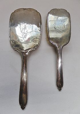 Vintage International Sterling Silver Vanity Mirror & Brush Set