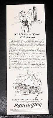 1930 Old Magazine Print Ad, Remington Knife R3843, Add This To Your Collection!