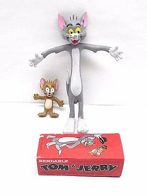 Vintage TOM & JERRY MGM AMSCAN 1979 Hong Kong Bendable Figures Free Shipping