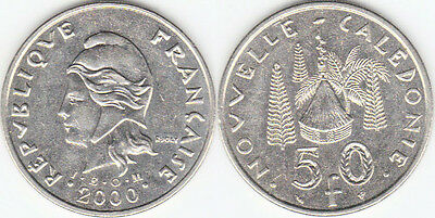 New Caledonia: Circulated Coin Pair, 50 & 100 Francs