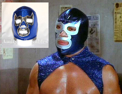 'BLUE DEMON' Pro-Fit Foam MEXICAN WRESTLING MASK  [WWE, Fancy Dress, Halloween]