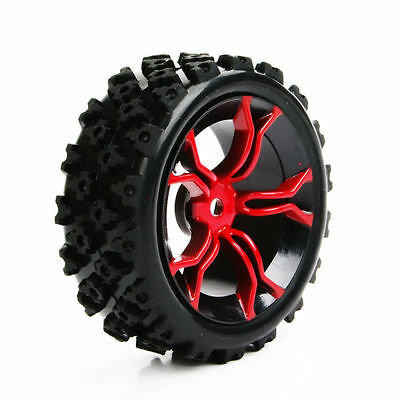 US 4Pcs Set Rubber Tyre Wheel 12mm Hex For RC 1/10 Rally Racing Off Road Car