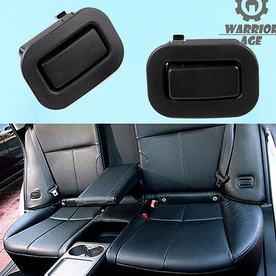 Qty 2 New Black For 09-13 Subaru Forester Rear Seat Holder Recliner L&R Buttons